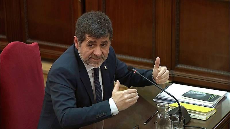 """Jordi Sànchez acusa al fiscal de criminalizar una protesta """"pacífica"""" en su declaración en el Supremo"""