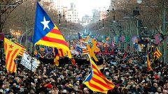 La huelga general en Cataluña por el juicio del 'procés' toma la calle pero no paraliza la economía