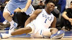 La gran promesa del baloncesto universitario se lesiona al explotar su zapatilla
