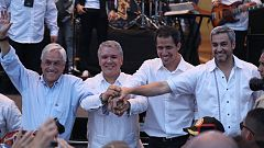 Juan Guaidó asiste al concierto en la ciudad colombiana de Cúcuta.