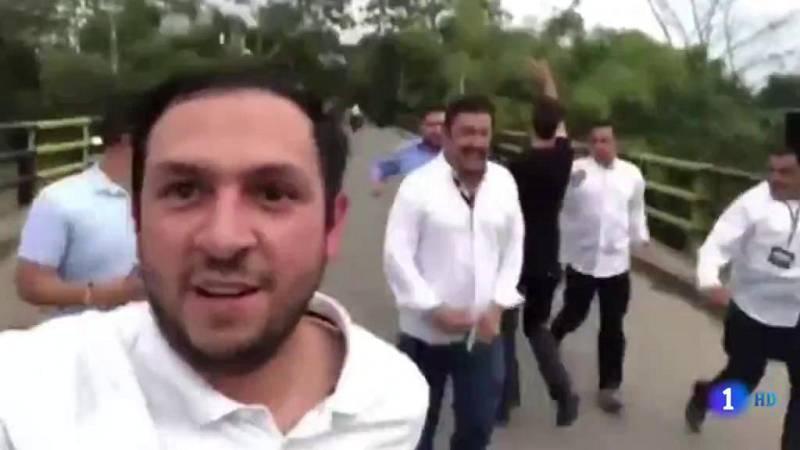 Guaidó de nuevo en Cúcuta en un momento de máxima tensión en la frontera entre Colombia y Venezuela - Ver ahora