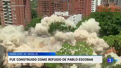 El emblemático edificio del narcotráfico de Medellín reducido a escombros
