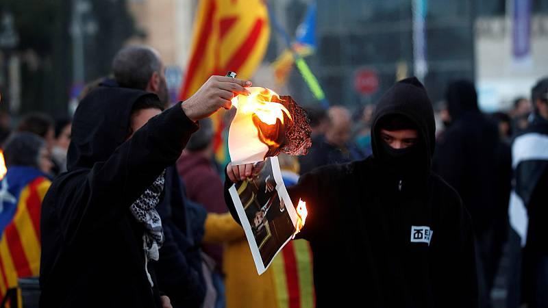 Protestas de los CDR contra la visita del rey a Barcelona - Ver ahora