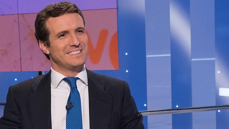 """Casado defiende la """"originalidad"""" del PP frente a partidos que """"tratan de imitarlos"""""""
