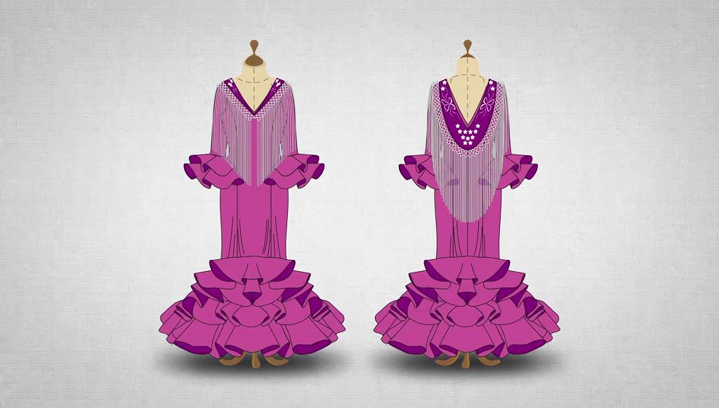 Vestido flamenco para mujer
