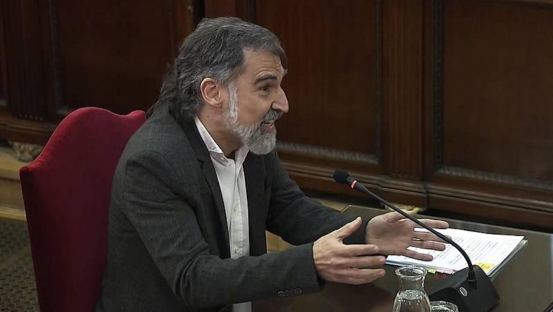 """Cuixart acusa a la Fiscalía de usar un """"hecho menor"""" como los daños en los coches para acusarles de rebelión"""