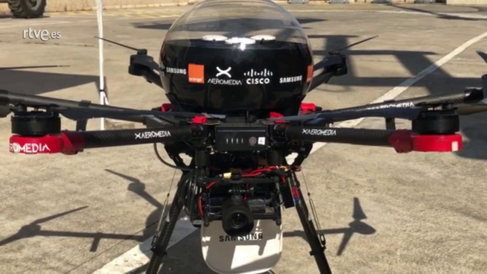 En el Mobile World Congres 2019 descubrimos cómo funciona el primer dron conectado con 5G en España y que utilidades podrá tener.