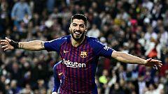 El Barcelona conquista el Bernabéu y jugará la final de Copa (0-3)