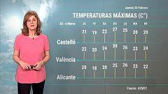 El tiempo en la Comunidad Valenciana - 28/02/19