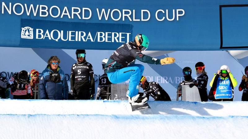 El español Lucas Eguibar ha completado una magnífica sesión de clasificación para la prueba de la Copa del Mundo de snowboard cross de Baqueira Beret, al acabar la jornada con el mejor crono. Eguibar marcó la pauta finalmente con un crono de 53.44 y