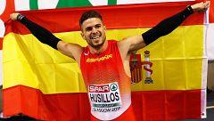 Ósar Husillos, subcampeón de Europa de 400 metros en pista cubierta