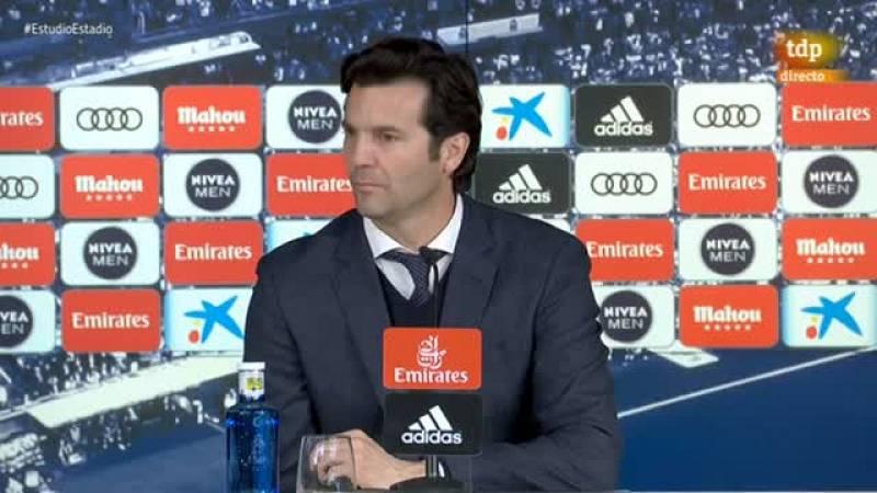"""El entrenador del Real Madrid, Santiago Solari, se refirió a la  falta de gol como el importante detalle que faltó en la derrota (0-1)  ante el FC Barcelona, en una actuación """"de equipo"""" y sólida que no  impidió que los blancos se vean a 12 puntos de"""