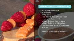 Brochetas de Fruta con cacao