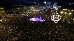 La manifestación del 8M en 360º