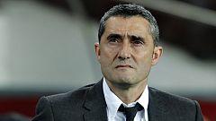 """Valverde: """"En el primer tiempo el resultado ha sido corto para lo que habíamos hecho"""""""