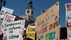 Los jóvenes se manifiestan en Madrid para exigir medidas contra el cambio climatico