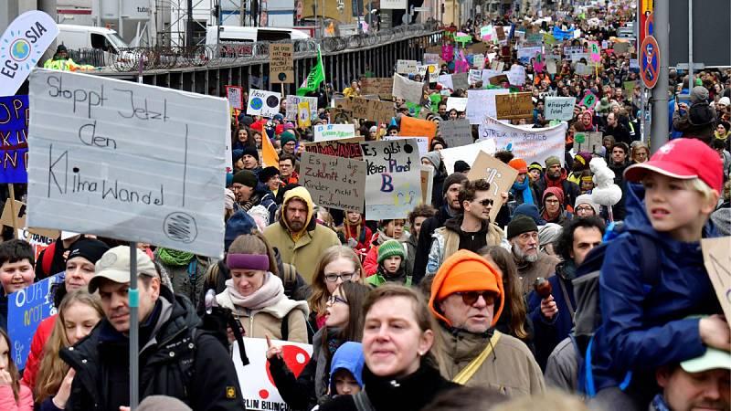 Manifestación contra el cambio climatico en Berlin