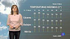 El tiempo en Extremadura - 15/03/19