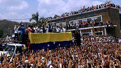 Guaidó inicia una gira por Venezuela para organizar una movilización hacia el palacio presidencial de Miraflores