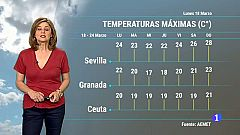 El tiempo en Andalucía - 18/03/19