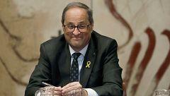 Torra mantendrá el lazo amarillo en la fachada de la Generalitat desoyendo a la JEC