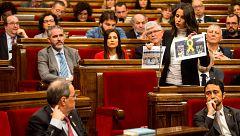 Torra mantiene los lazos amarillos pese a las críticas del Gobierno y el resto de partidos
