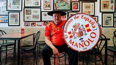 'Manolo el del bombo', feliz por el regreso de la selección a Mestalla