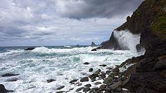 Intervalos de viento fuerte del norte en Canarias