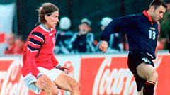 Molina y su recordado debut contra Noruega