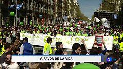 Una marcha organizada por 500 asociaciones provida ha recorrido las calles de Madrid