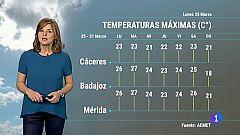 El Tiempo en Extremadura - 25/03/19