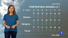 El tiempo en Aragón - 25/03/2019