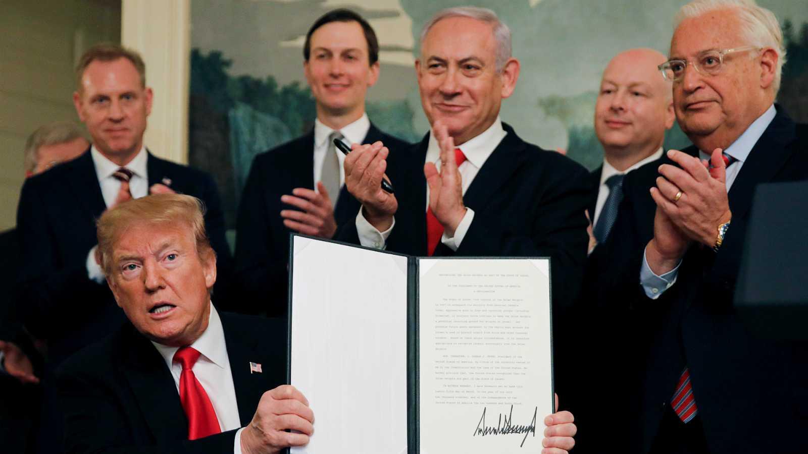 Trump condena la agresión de Irán y Siria en los Altos del Golán