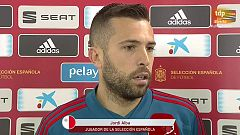 """Jordi Alba: """"El seleccionador ya me conoce y tenía donde elegir"""""""