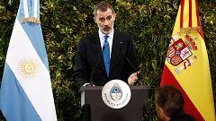 """Felipe VI: """"España ha apostado siempre por Argentina y lo seguirá haciendo"""""""