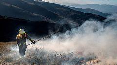 Aumentan a 750 las hectáreas quemadas  por el incendio forestal de Dodro y Rianxo