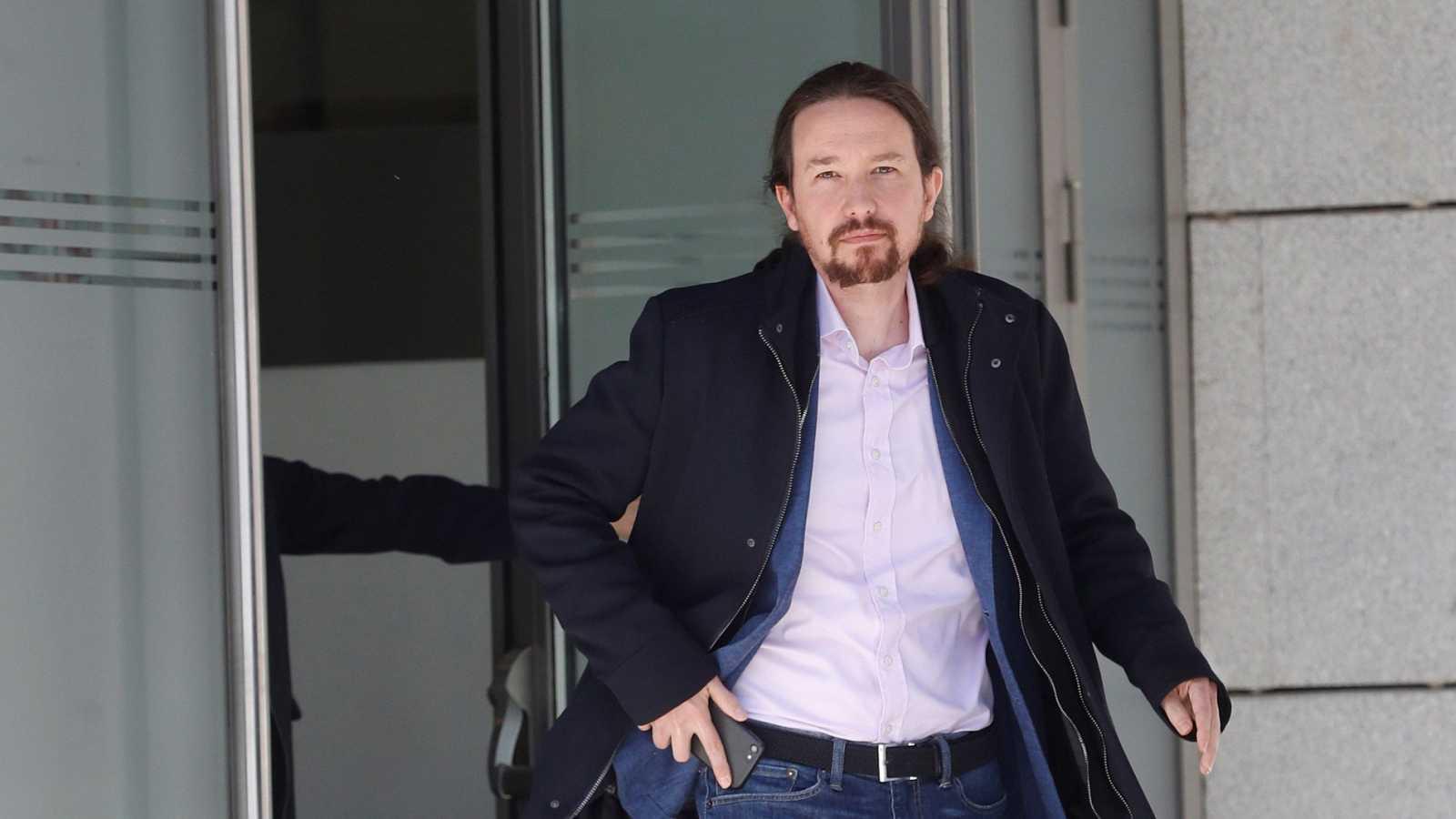 """Iglesias acusa al Gobierno del PP de dar cobertura a Villarejo, a quien tilda de """"corrupto"""""""