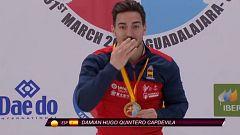 Entrega de la medalla de oro a Damián Quintero
