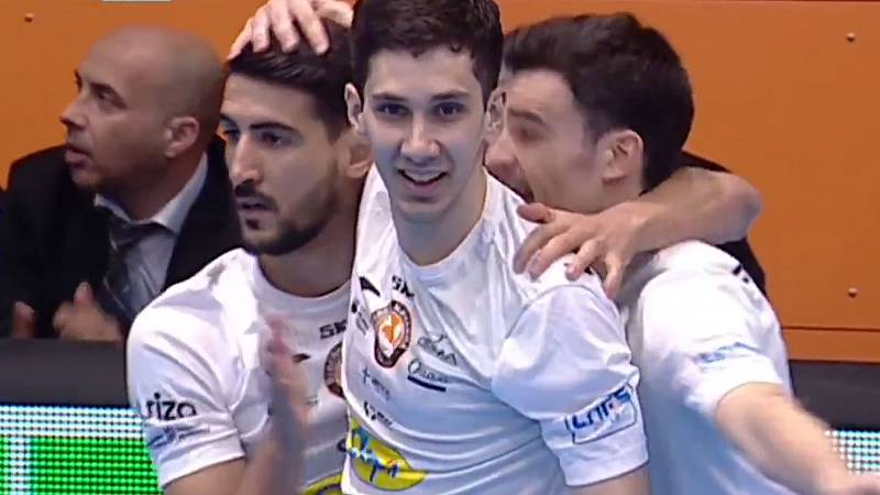 Gol de Lemine para abrir el marcador. Aspil Ribera Navarra 1-0 Osasuna Magna