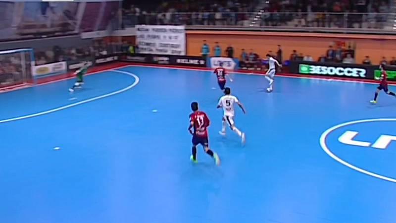 Gol de Trípodi tras otra genialidad. Aspil Ribera Navarra 3-0 Osasuna Magna