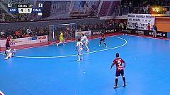 Ya con portero jugador, Martel vuelve a marcar. Aspil Ribera Navarra 4-2 Osasuna