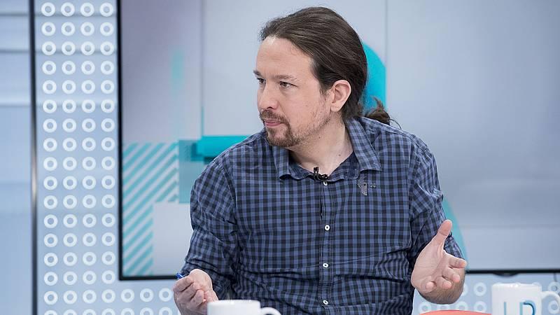 """Iglesias insiste en que las """"cloacas del Estado"""" siguen funcionando con el PSOE, y cree que """"no puede"""" eliminarlas"""