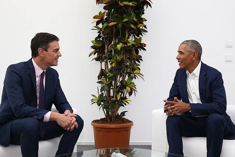 Sánchez y Obama se reúnen en Sevilla durante la Cumbre Mundial del Turismo