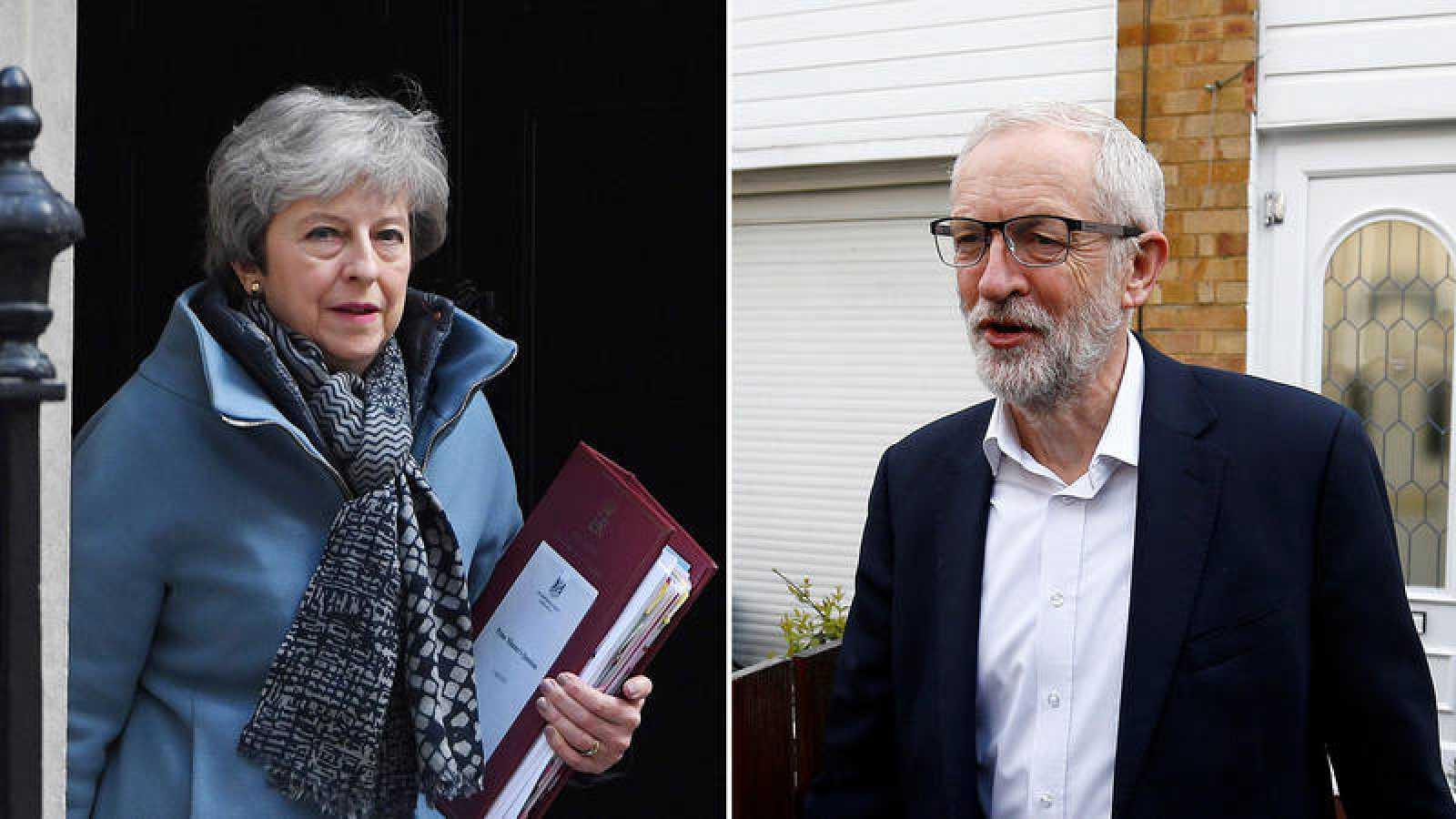 La primera reunión entre May y Corbyn para el 'Brexit' se salda con un calendario de trabajo y pocos avances