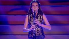 La emotiva actuación de Carla Gómez con su clarinete