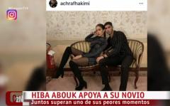 Corazón - Hiba Abouk y Achraf Hakimi, juntos en los momentos más delicados