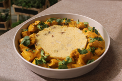 Hacer de comer - Hojaldre de espinacas y pollo al curry
