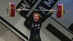 Ritvars Suharevs supera a Andrés Eduardo Mata que consigue la plata en arrancada hasta 81 kilos