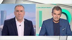 Los desayunos de TVE - Laura Duarte, candidata de PACMA a la presidencia del Gobierno y Toni Cantó, candidato de Ciudadanos a la presidencia de la Generalitat valenciana