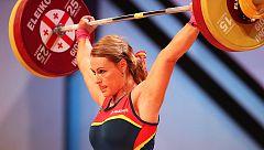 Lydia Valentín se cuelga la plata europea en 'dos tiempos' al levantar 133kg